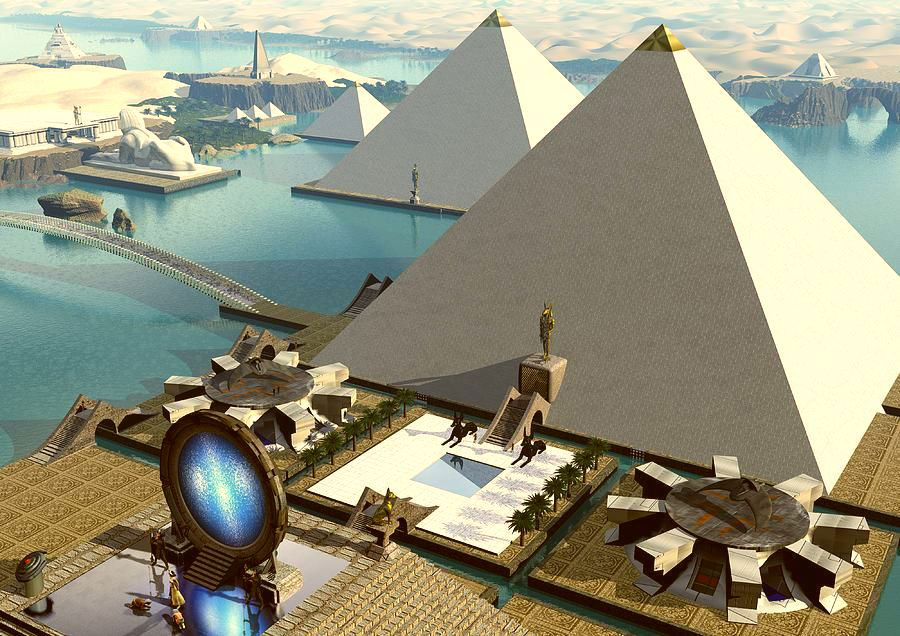Impression of the Atlantean Giza platform