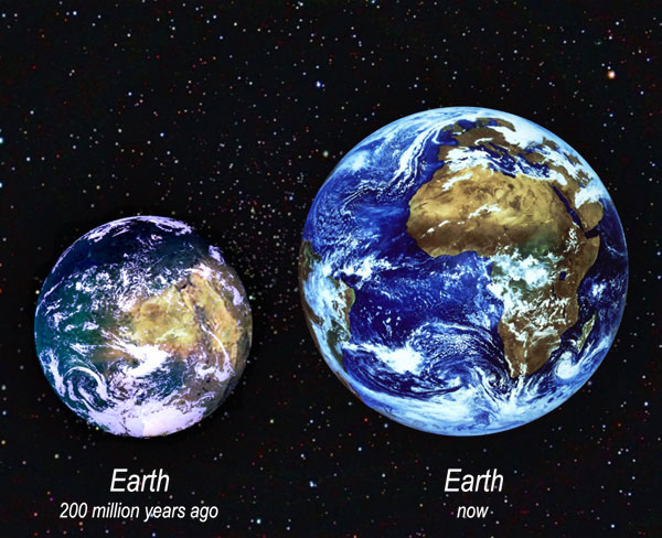 Earth 200 million years ago and now