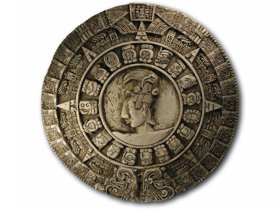 The famous Mayan calendar, that ends (and starts again) on the 21st of December, 2012